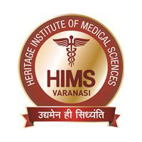 HIMS Varanasi Heritage Institute of Medical Science logo