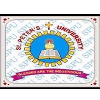 St Peter's University logo